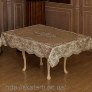 Скатерть виниловая коричневая 110х140см(102/21)