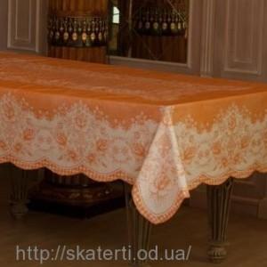 Скатерть виниловая оранжевая 150х230см(107/14)