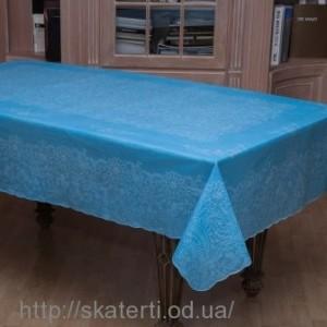 Скатерть голубая 150х230 см(107/15)