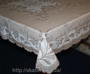 Скатерть виниловая коричневая 135х180см(106/11)