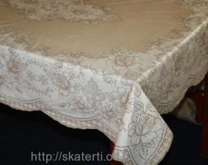 Скатерть виниловая коричневая 120х150см(103/8)