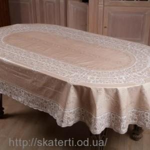 Резиновая скатерть на стол 150х230 см.овал(113/1)