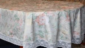 Скатерть шелкография 150х230см.овал(3081/1)