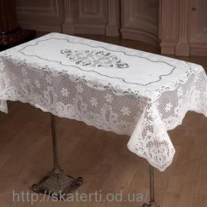 Скатерть виниловая ажурная 75х120см(201)