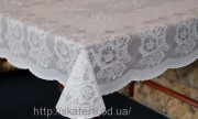 Скатерть виниловая  белая 75х120см(101)