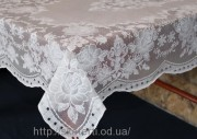 Скатерть виниловая  белая 75х120см(101/2)