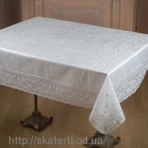 Скатерть виниловая  белая 110х140см(102\1)