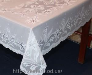 Скатерть виниловая белая  75х120см(101/1)