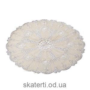Круглая виниловая салфетка на стол 38см (521-108BS)