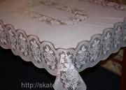 Скатерть виниловая белая 110х140см(102\3)