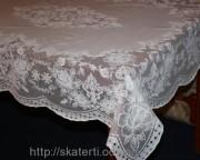 Скатерть виниловая белая 150х230см(107/4)