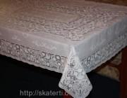 Скатерть виниловая белая 150х260см(108/1)