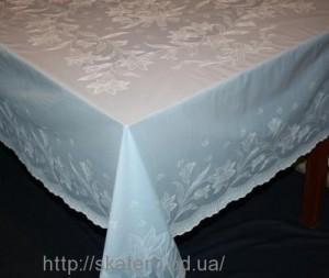 Скатерть виниловая белая 150х230см(107/5)