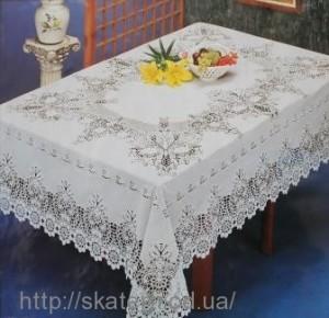 Скатерть виниловая ажурная 150х230см(206)