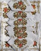Скатерть белая с салфетками 150х220см(550/21)
