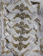Скатерть белая с салфетками 150х220см(550/11)