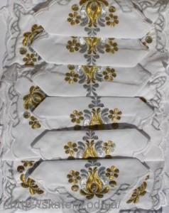 Скатерть белая с салфетками 150х220см(550/13)