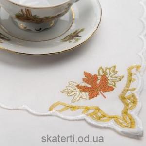 Скатерть белая с салфетками 150х220см(550/14)