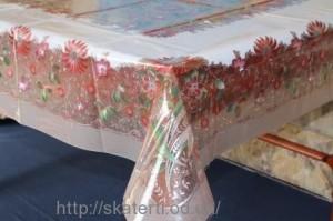 Скатерть силиконовая метражная 120х150(3701/1)