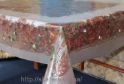 Скатерть силиконовая метражная 120х150(3601/5)