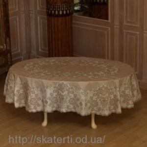 Скатерть виниловая коричневая 135х180см.овал(112/3)