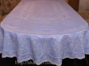 Скатерть виниловая (цветная) 150х230см.овал(113/5)