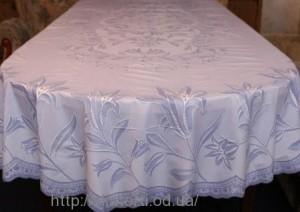 Скатерть виниловая (цветная) 150х230см.овал(113/9)