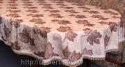 Скатерть тканевая полиэстер 135х180см.овал(284/21)