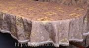 Скатерть тканевая полиэстер 135х180см.овал(284/19)