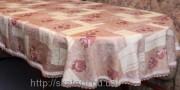 Скатерть тканевая полиэстер 135х180см.овал(284/12)