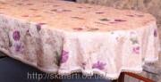 Скатерть тканевая полиэстер 135х180см.овал(284/10)