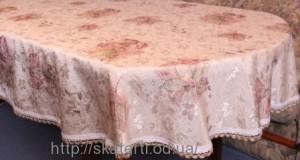Скатерть тканевая полиэстер 135х180см.овал(284/17)