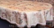 Скатерть тканевая полиэстер 135х180см.овал(284/16)