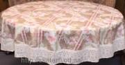 Скатерть шелкография круг 150см(3015/2)