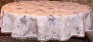 Скатерть тканевая полиэстер круг 150см(2815/2)