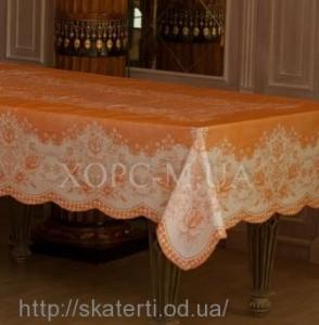 Оранжевая скатерть 135х180 см(106/10)