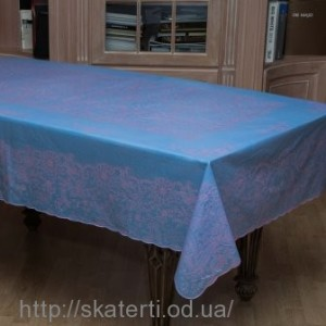 Скатерть голубая 150х230 см(107/9)