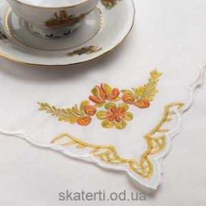 Скатерть белая с салфетками 150х220см(550/23)