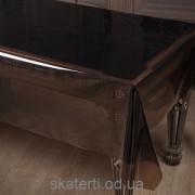 Скатерть мягко стекло Brown 140смх40мх(0.24мм)-55101