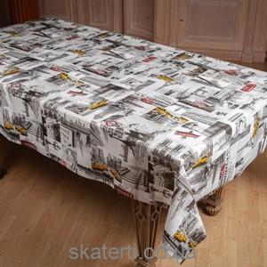 Клеёнчатая скатерть на стол Ситилайф 110х140см(8666/6)