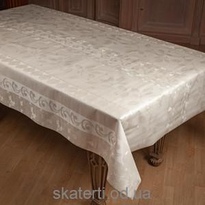 Белая клеенка на стол Атлас 110х140см(5072-3/11)