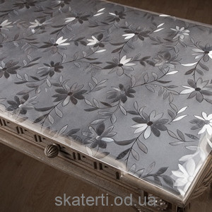 Клеенка на стол мягкое стекло DAISY 60смх20м(1,7мм)
