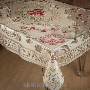 Скатерть на текстильной основе ТОСКАНА 140х180см-2(ZY018D)