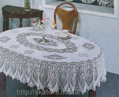 Скатерть виниловая ажурная 150х230см.овал(209)